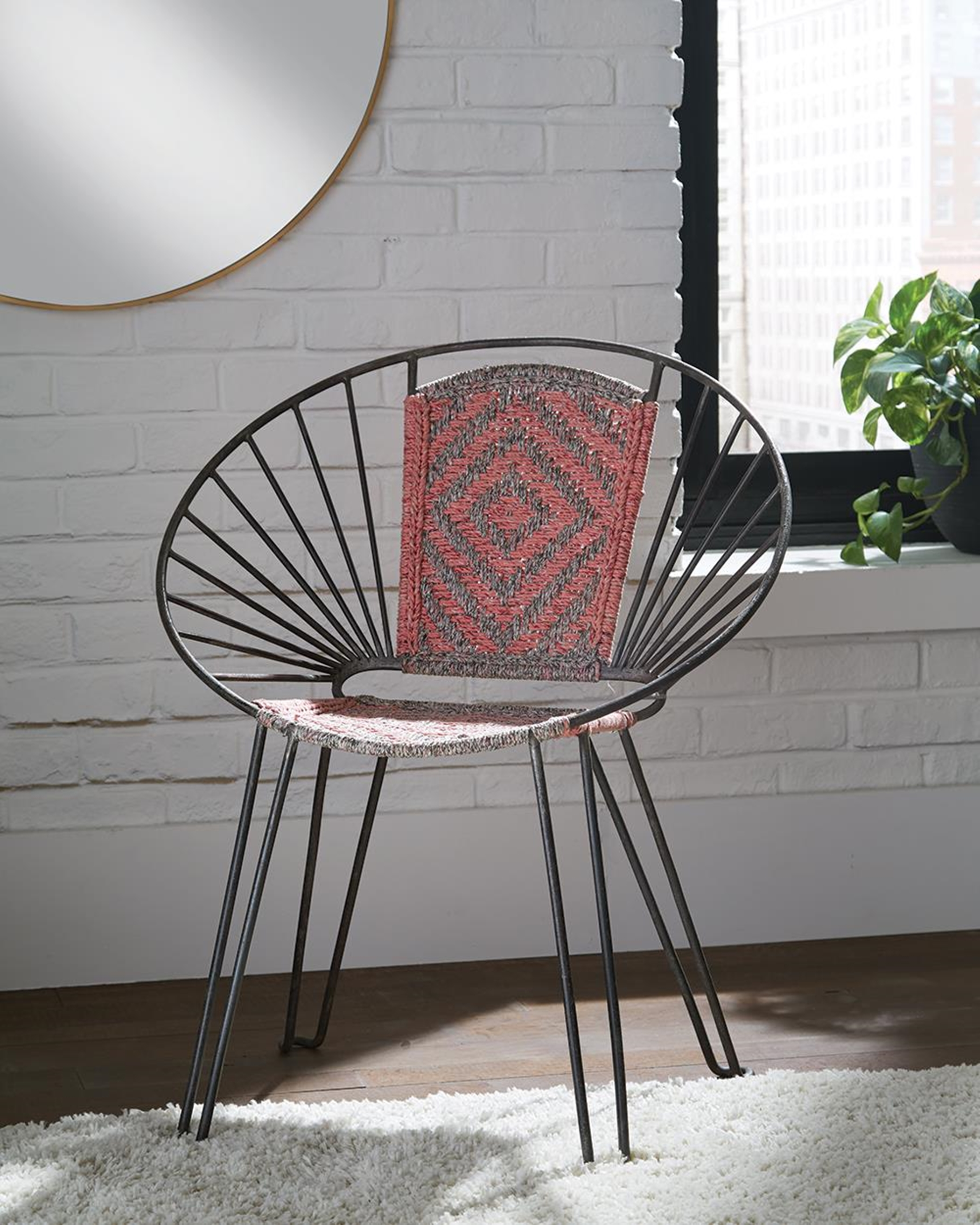 Contemporary Gunmetal Accent Chair