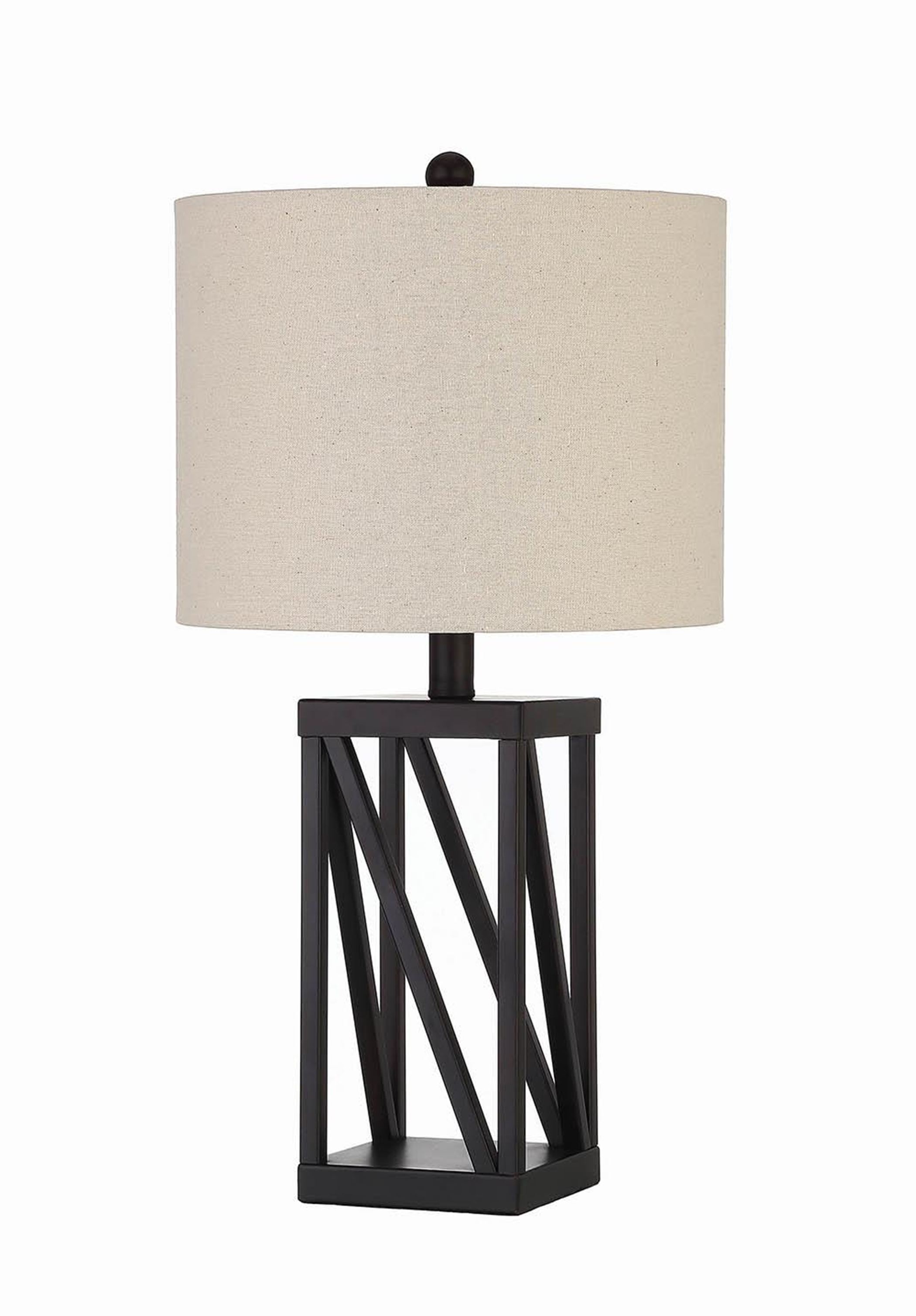 Transitional Black Table Lamp