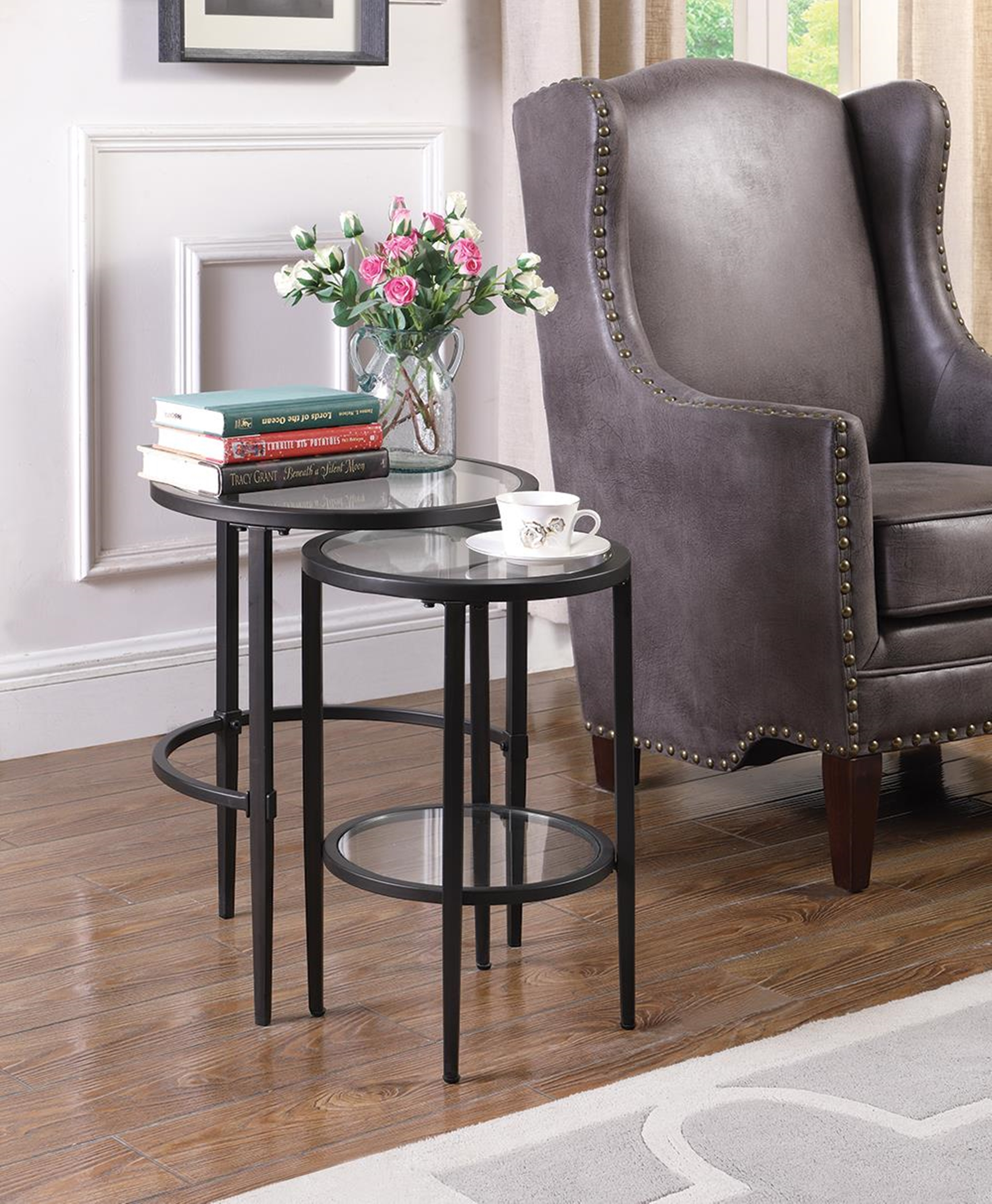 Matte Black Nesting Table