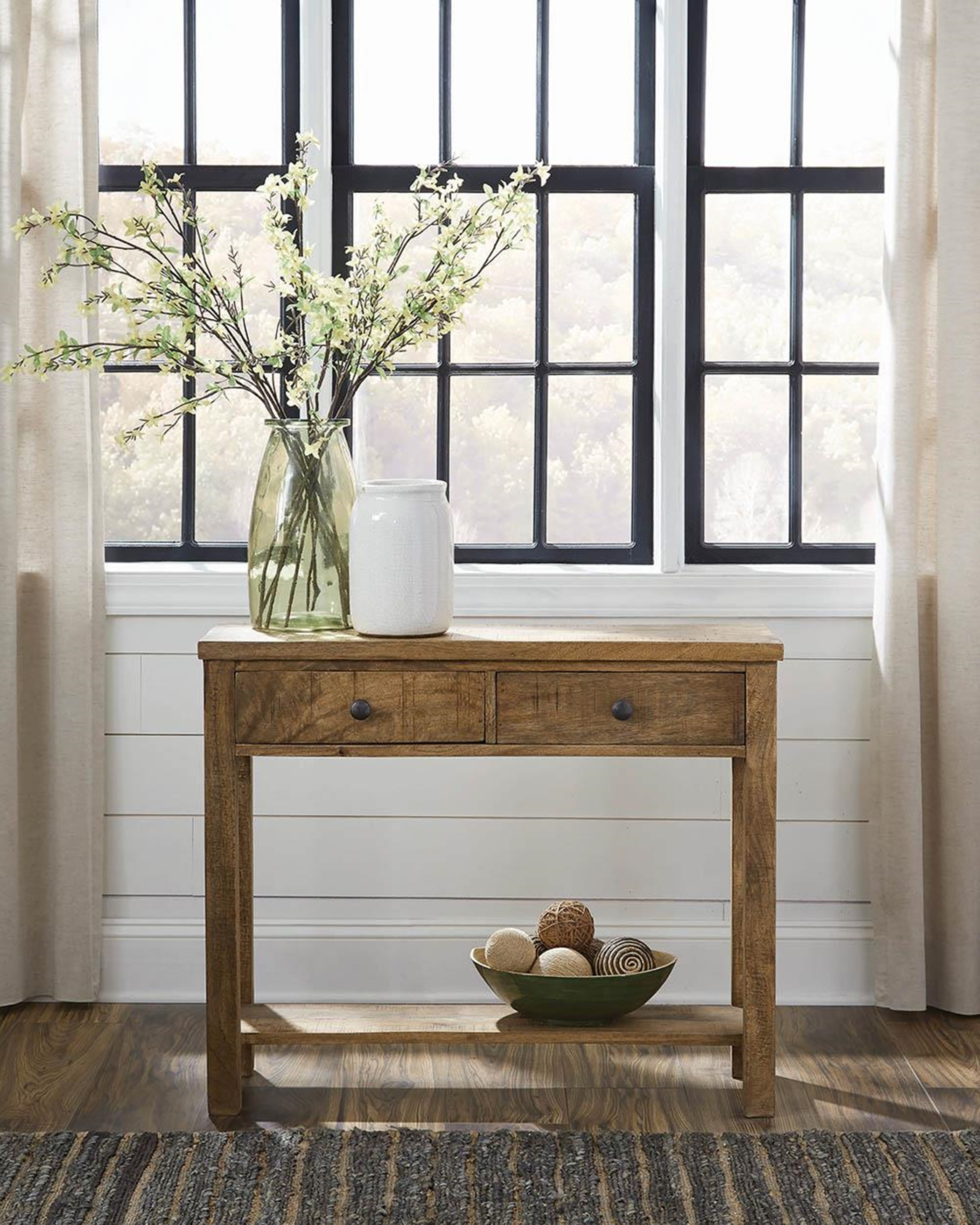 Rustic Natural Console Table