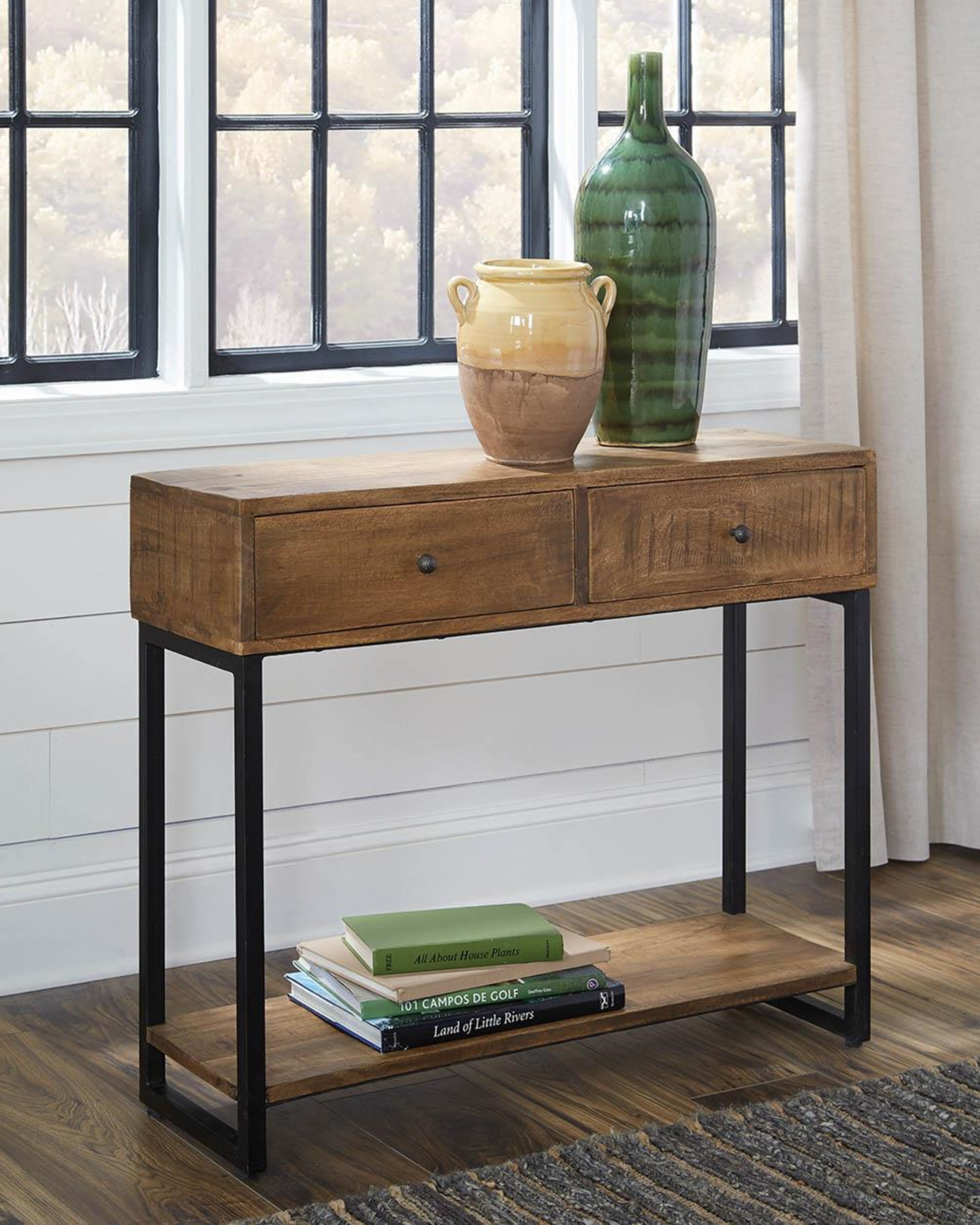 Industrial Rustic Natural Console Table