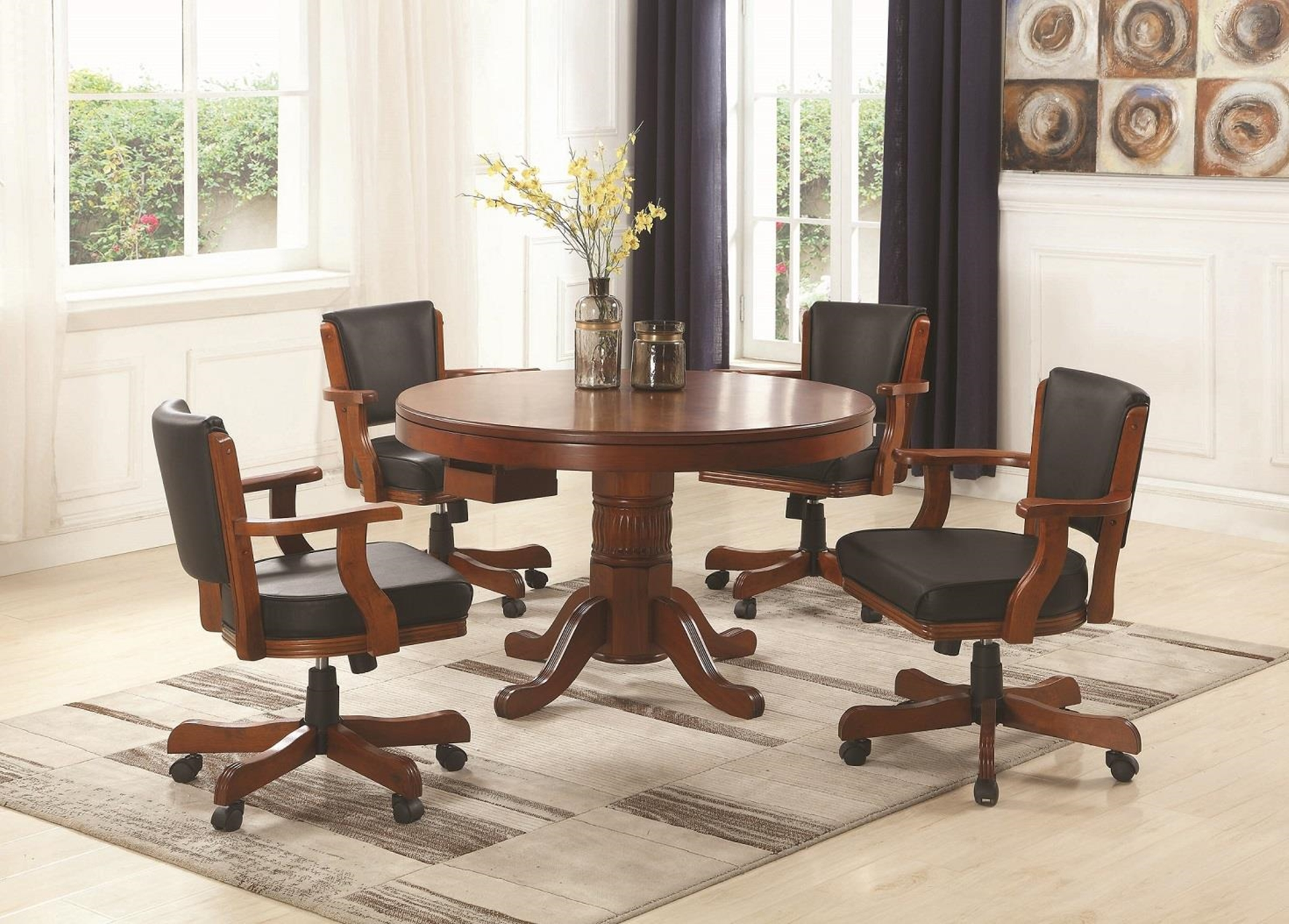 Mitchell Three-In-One Game Table & 4 Arm Chairs