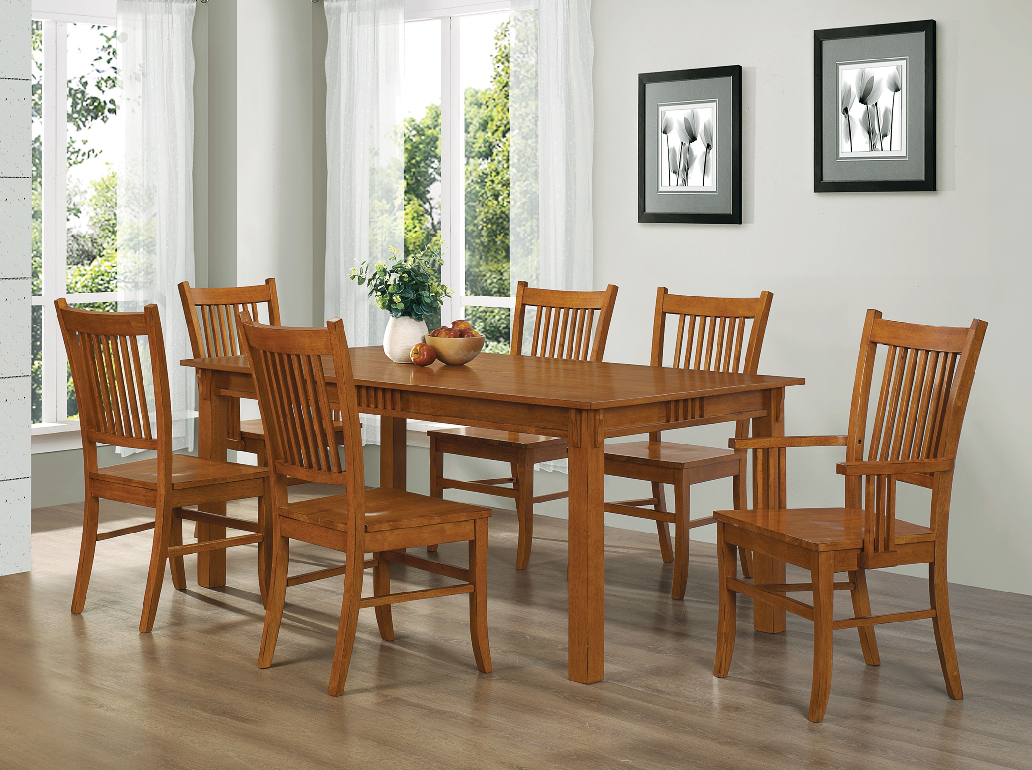 Marbrisa Mission Oak 7 Pc. Set