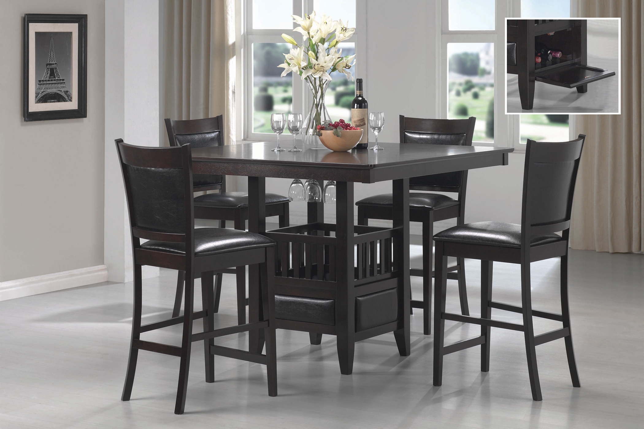 Jaden Cappuccino 5 Pc. Counter-Ht Set