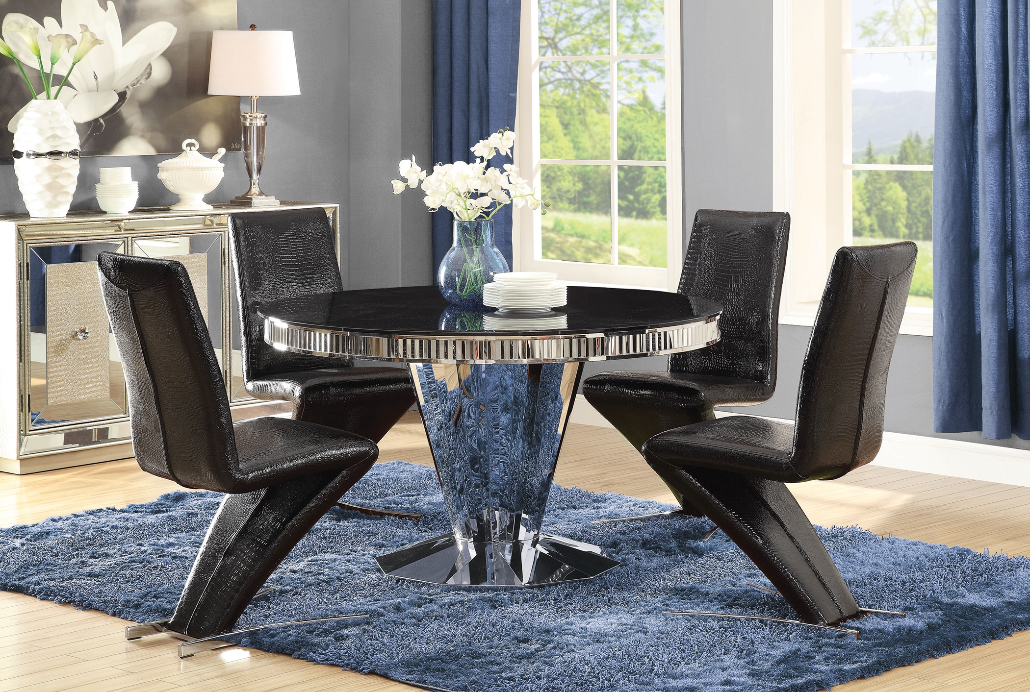 Barzini Black and Chrome 5 Pc. Set
