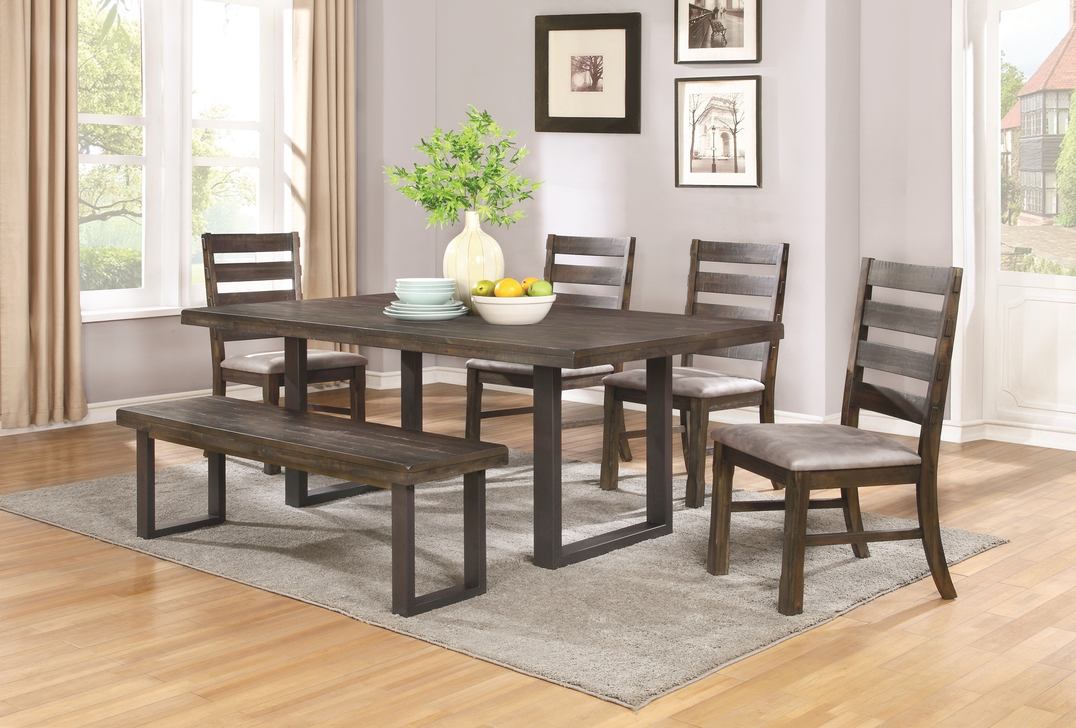 Murphy Rustic Metal and Wood 5 Pc. Set