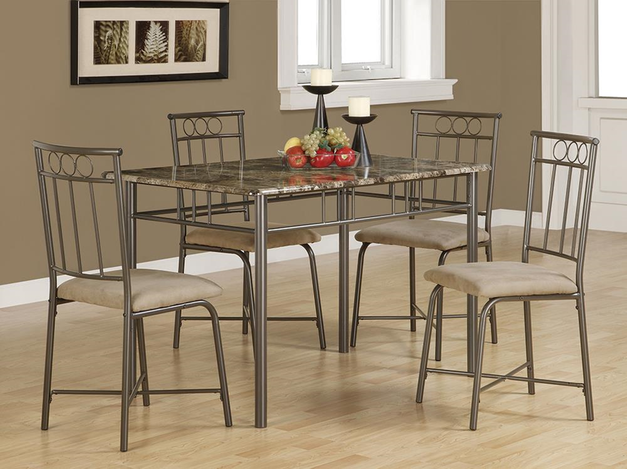 Casual Grey Metal 5-Pc. Dining Set