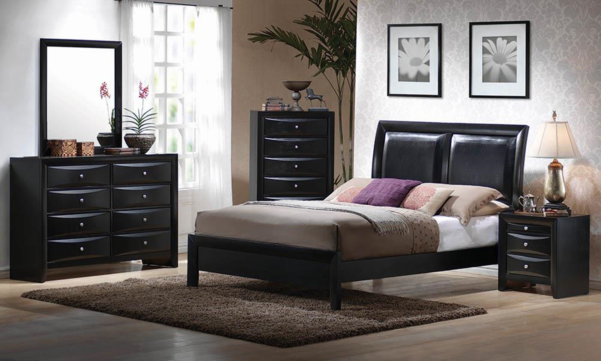 Briana Black transitional Cal. King Bed