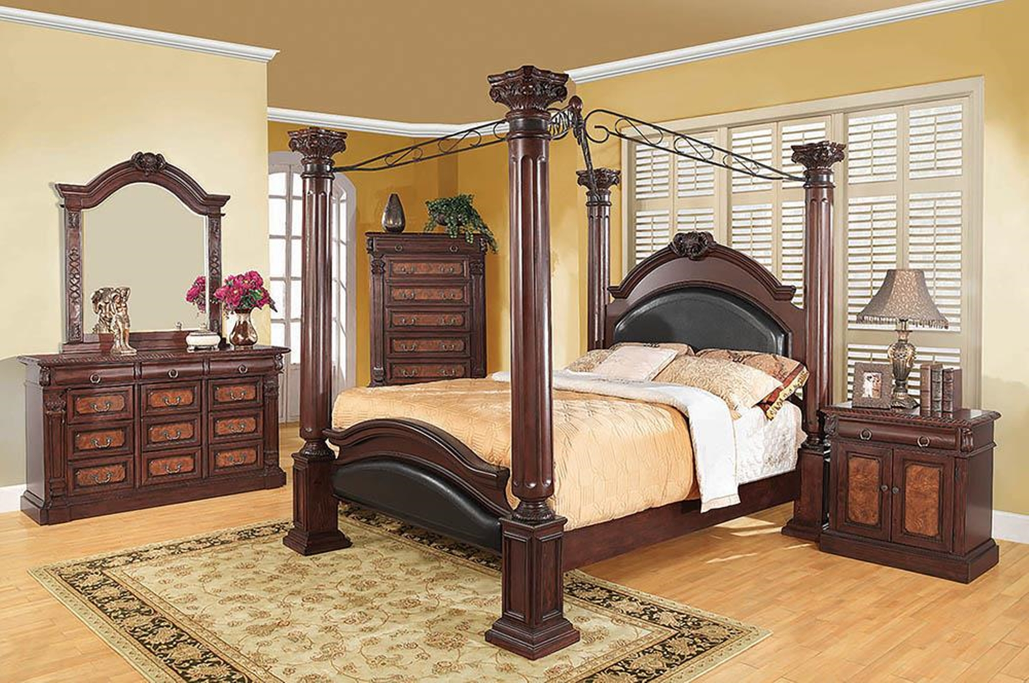 Grand Prado Four Post E. King Bed